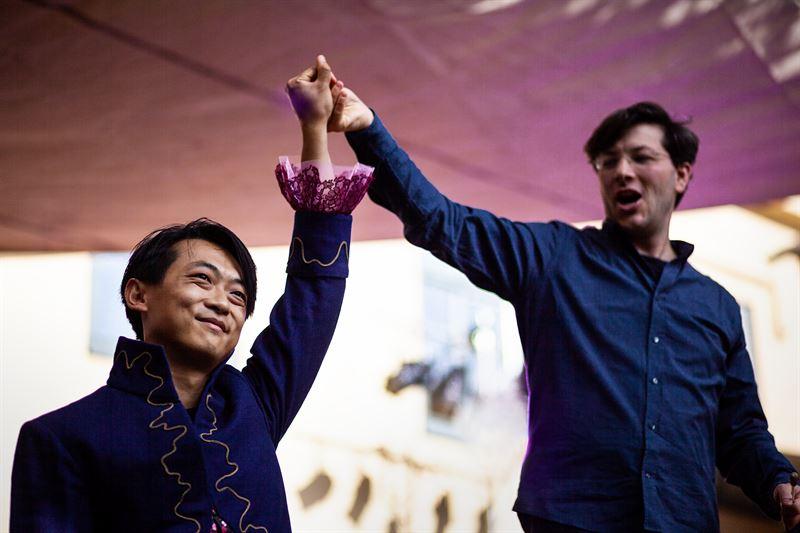David Huang och Christian Karlsen initiativtagare och konstnrlige ledare Grnslandet  symfonisk fest