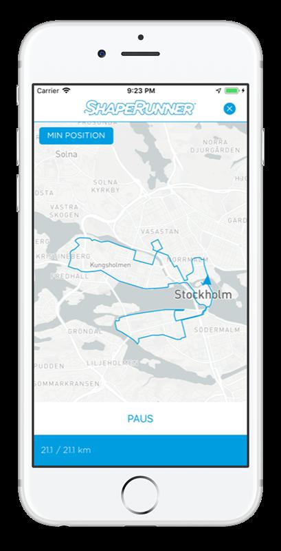 Ramboll Stockholm halvmarathon i ShapeRunner