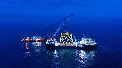 Repsol Caisson installation DJI 0194