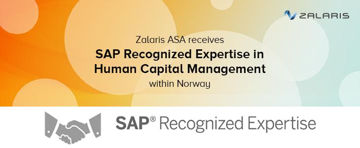 Zalaris receives SAP Recognized Expertise in Human Capital Management