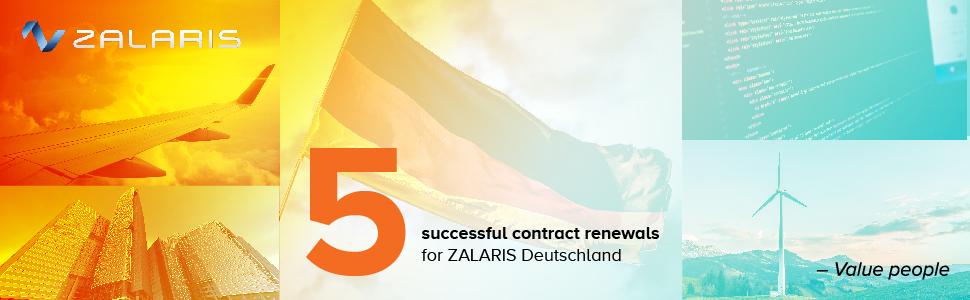 Fünf erfolgreiche Vertragsverlängerungen für ZALARIS Deutschland