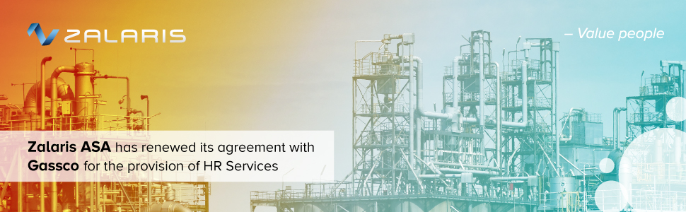 Leading transporter of natural gas - Gassco - renews agreement for Zalaris Payroll- and HR Services