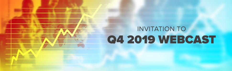 Invitation to Q4 2019 webcast
