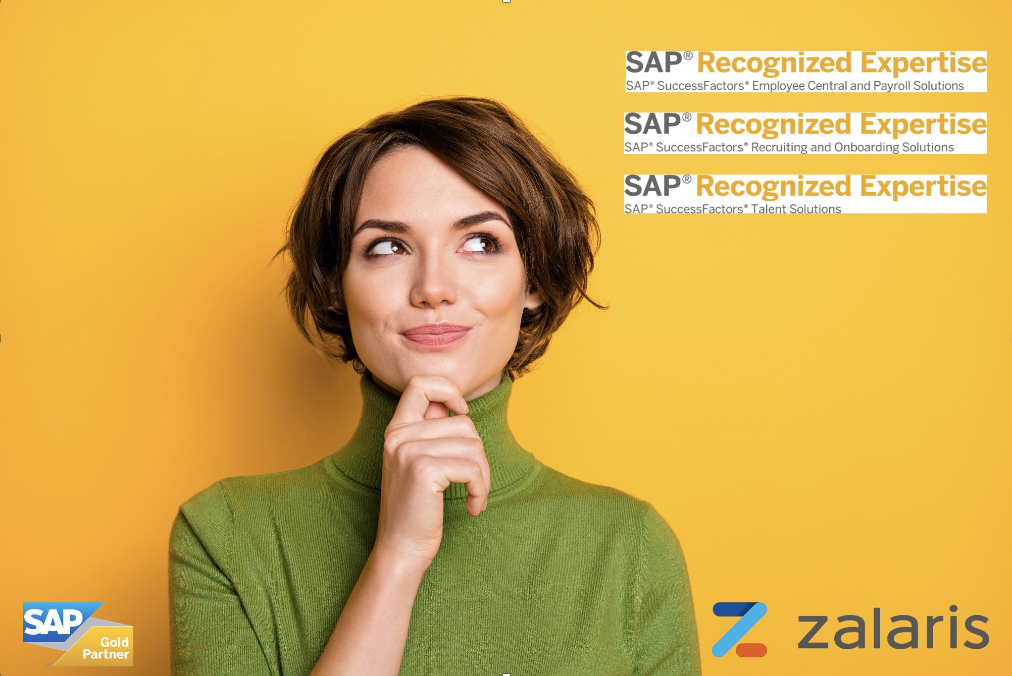 Zalaris Polska wyróżniona 3 certyfikatami SAP Recognized Expertise!