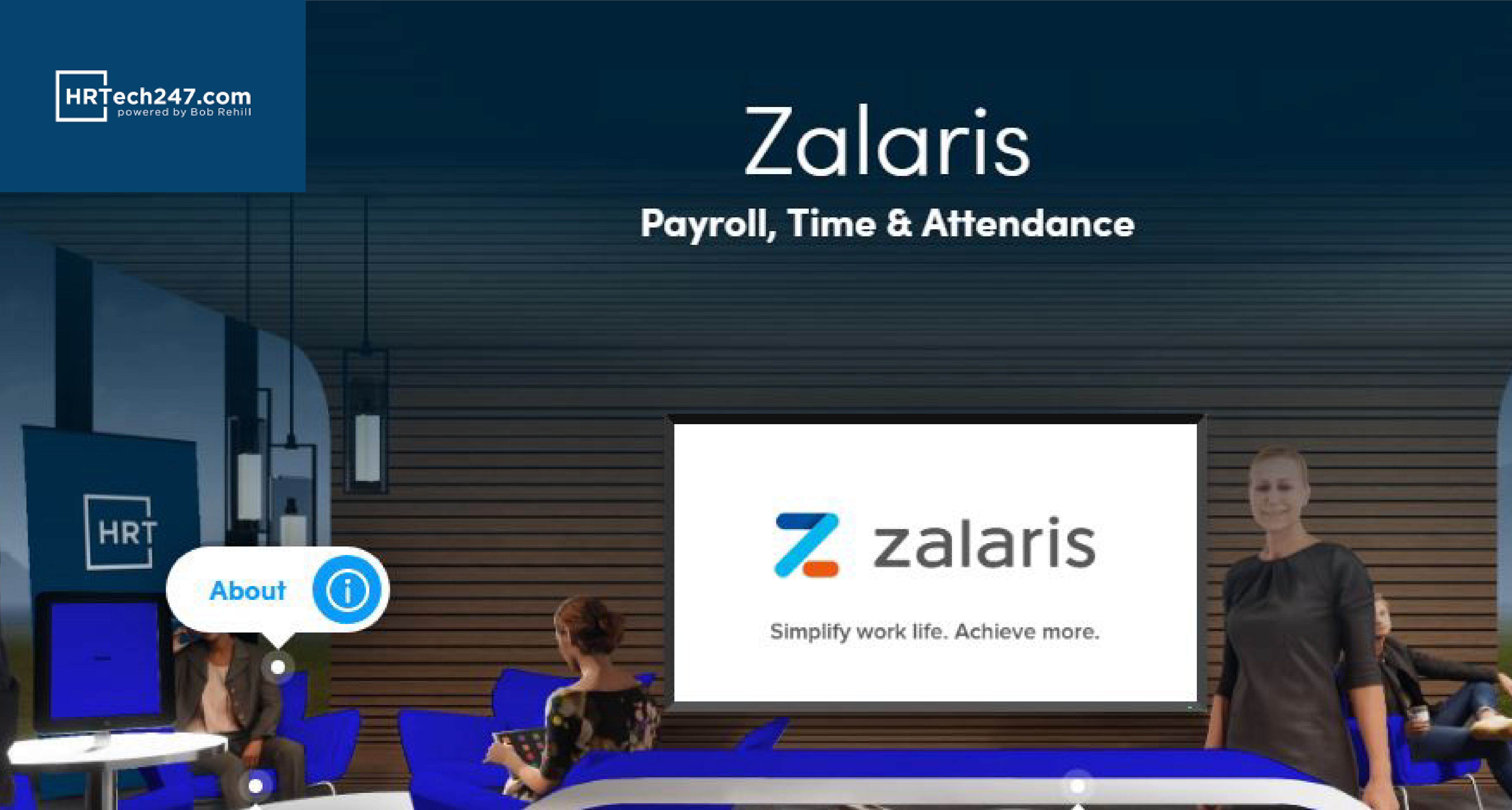 Zalaris launches their SAP partner stand on HRTech247