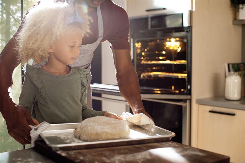 Girl Baking Bread