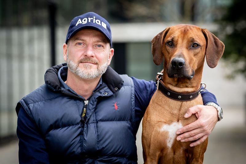 Peter Bornschein and dog