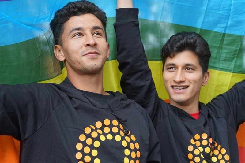 Samiaullah Amiri och Abdolah Hoseini tv av vinnarna av Ungt Kurage 2020