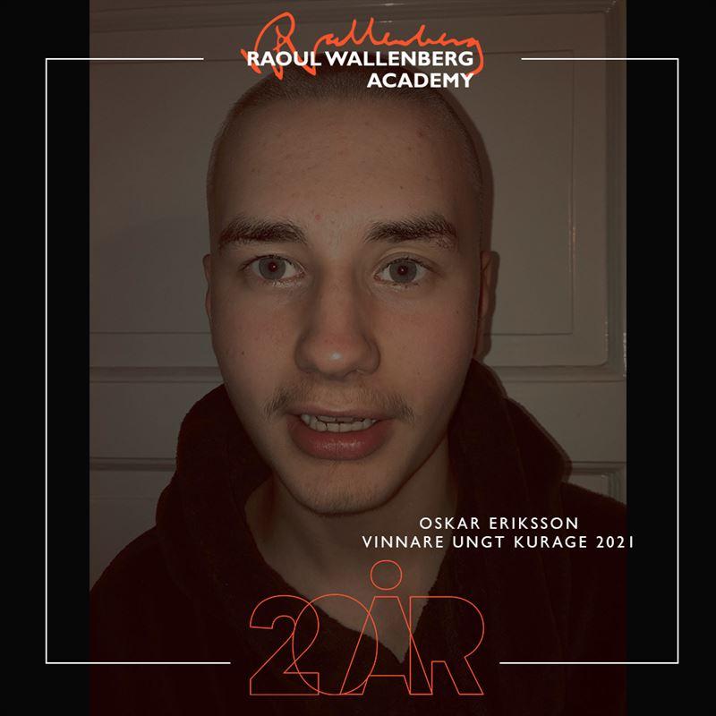 Foto på Oskar Eriksson vinnare av Ungt Kurage 2021
