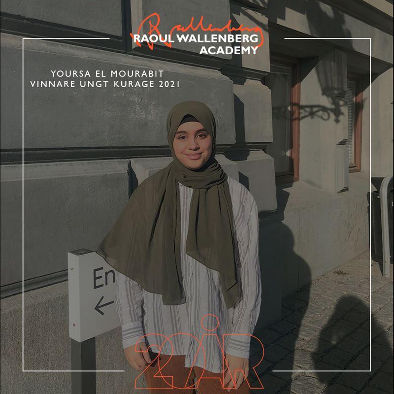 Yousra El Mourabit en av vinnarna av Ungt Kurage 2021