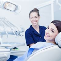 Dental professional and patient 7030