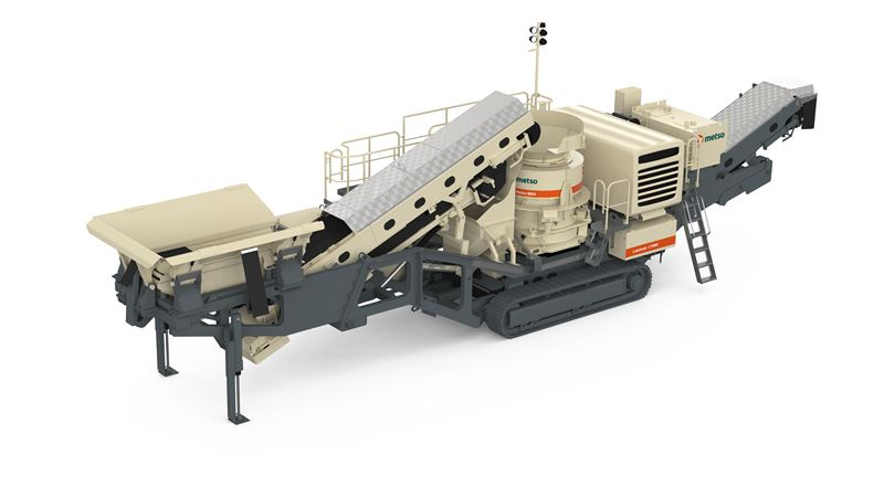 Caption Special madetoorder edition Lokotrack LT4MXTM cone crusher featured at ConExpo CONAGG 2020