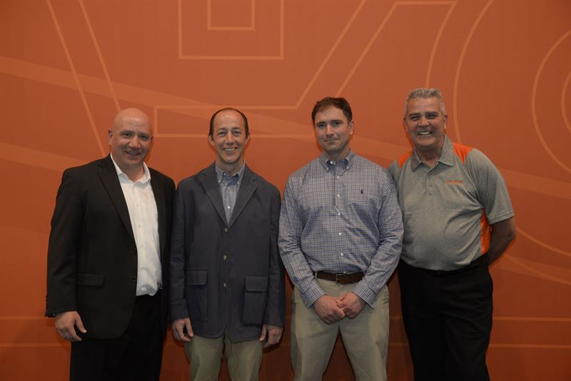 Pictured from the left Antonio Lorusso Owner SM Lorusso and Sons and Cape Cod Aggregates Paul Lorusso Owner Cape Cod Aggregates Jason Whitney Owner Whitney and Son Inc and Eric Bjornson Distribution Manager for Eastern USA Metso