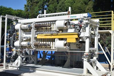 Metso VPX filter test unit