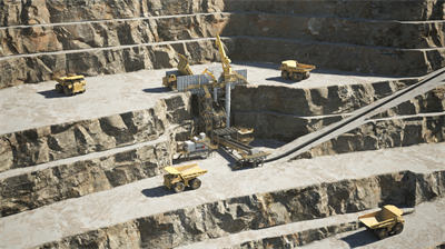 Metso Outotec-semimobile primary gyratory in the pit
