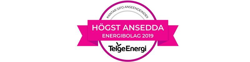 Telge Energi har hgst anseende bland elbolagen och ligger p plats 16 p hela listan Det visar resultatet av Anseendeindex 2019
