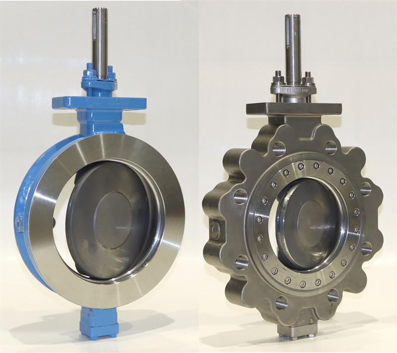 The modular butterfly valve range enables a vast number of configurations with Neles Neldisc metal seat and Jamesbury WaferSphere soft seat