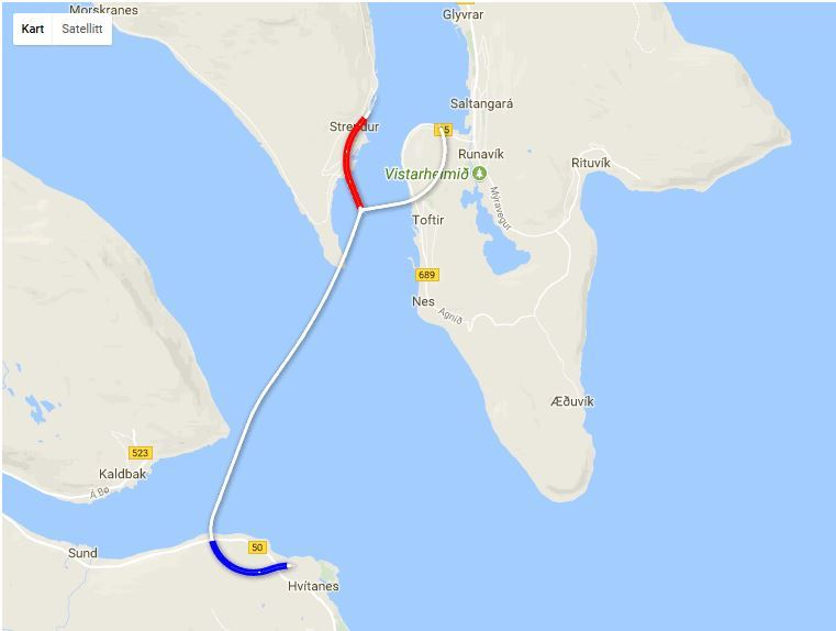 Kart Med Markering Av Tunneldrivingen Ncc