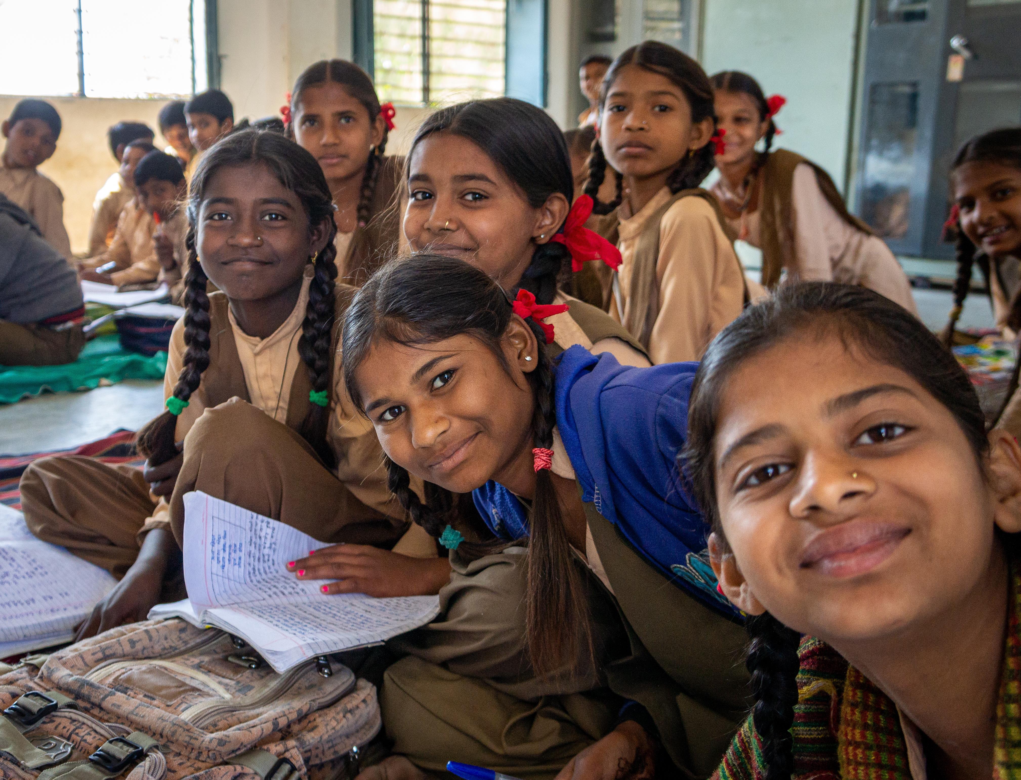 Dungarpurin lapsia paikallisessa koulussa