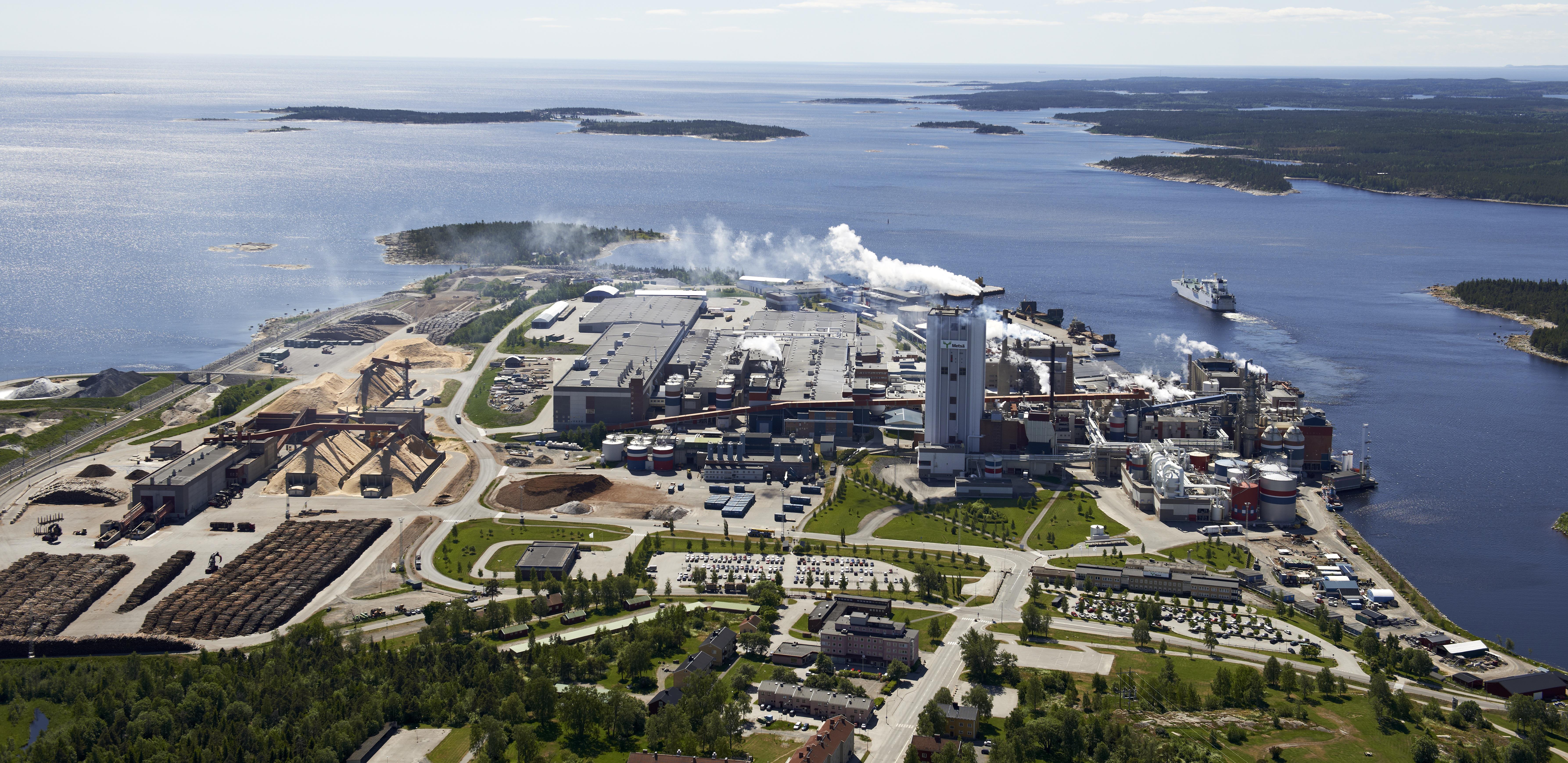 Metsä Board uudistaa Husumin sellutehdastaan Ruotsissa.