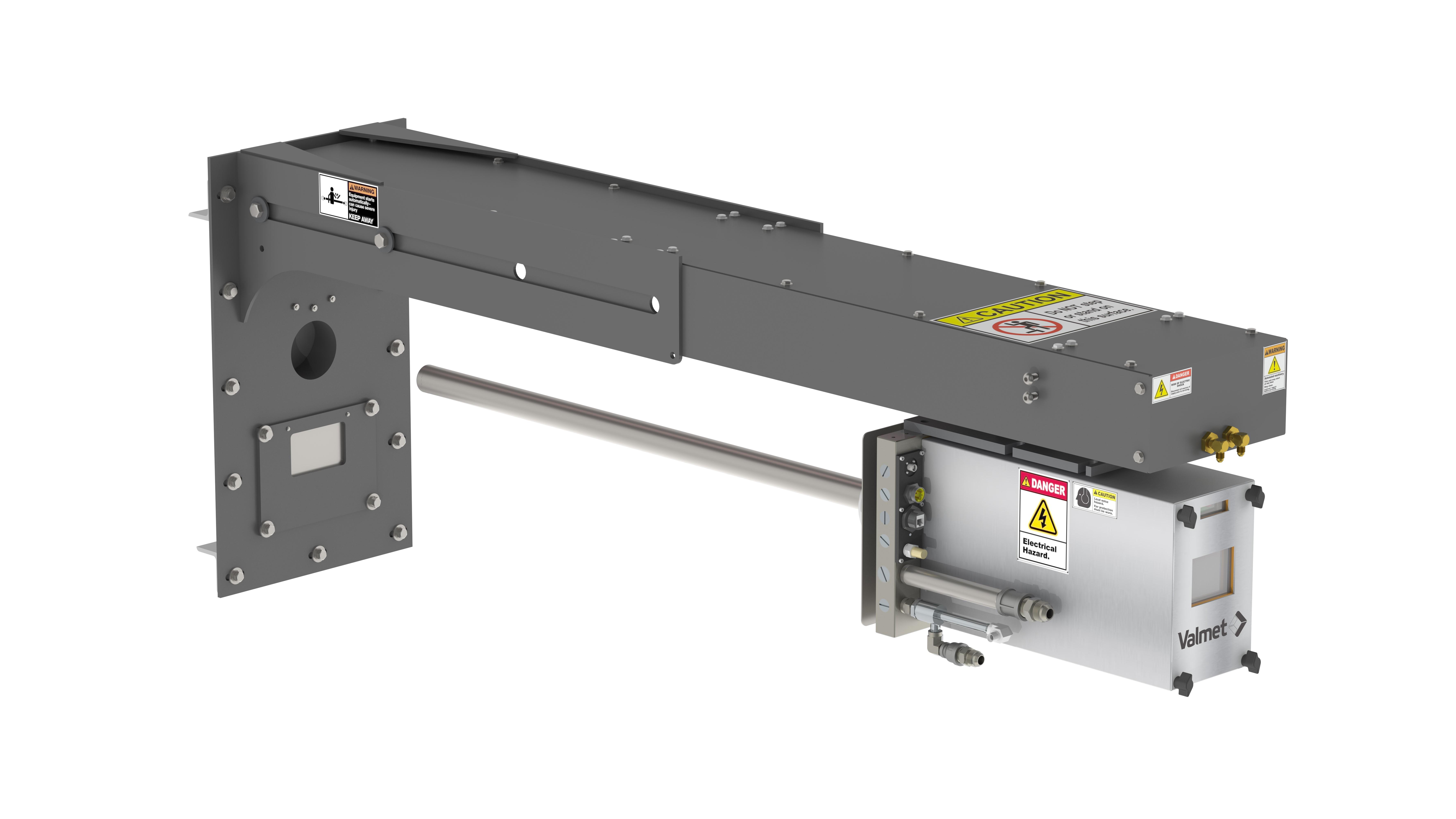 Kustomoitua Valmet Furnace Imaging System, Fixed Mount Mid-IR -infrapunakameraa käytetään uppokaariuunin toiminnan valvontaan.