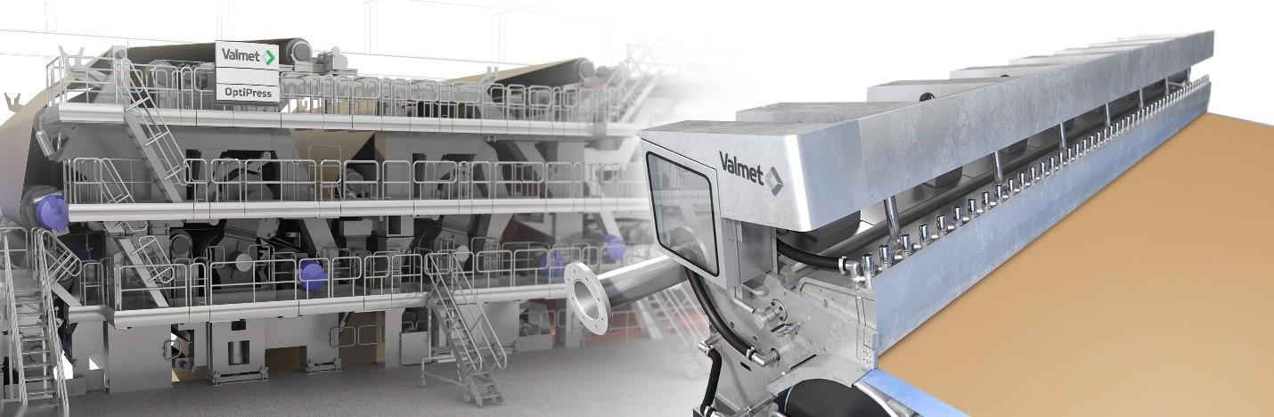 OptiPress Linear press section and OptiFlo Foudrinier headbox.