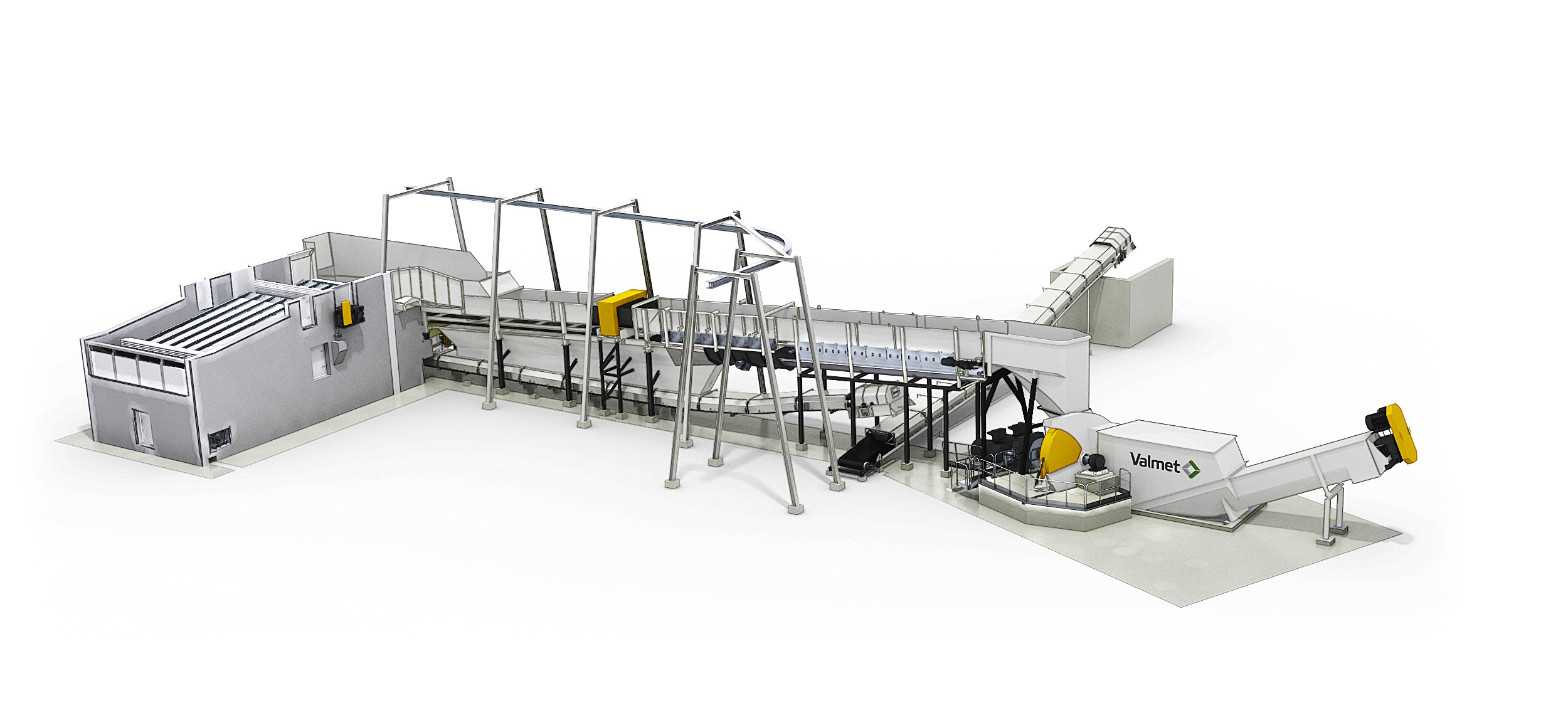 Valmet chipping line and chip handling system
