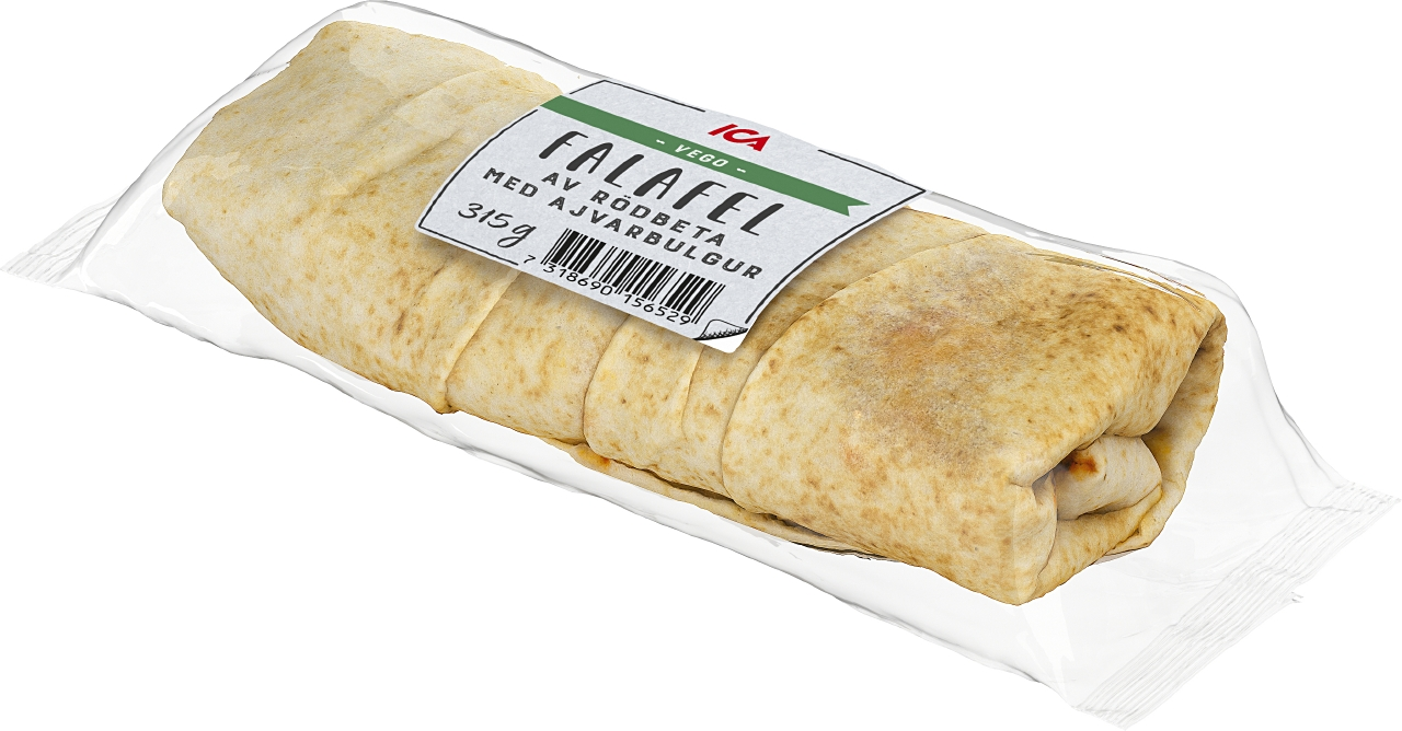 ICA Wrap Falafel av rödbeta med ajvarbulgur