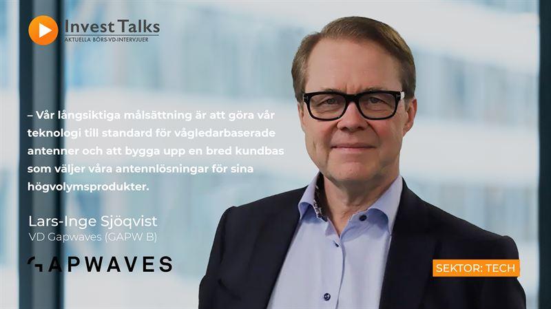 Gapwaves går från klarhet till klarhet mot målsättningen att bli en världsledande leverantör av vågledarbaserade antenner – Invest Talks