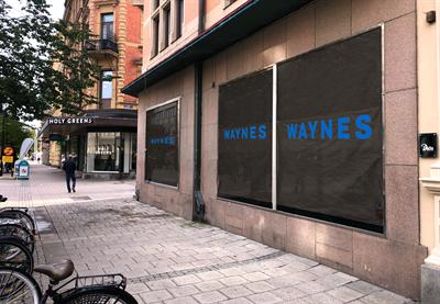 Diös utvecklar nytt kafé för Waynes Coffee i centrala Sundsvall