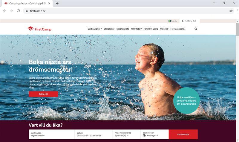 firstcamp.se är nu Sveriges största bokningskanal för camping