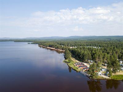 Flygbild på Orsa Camping