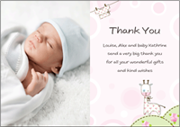Express Gratitude To Loved Ones With Baby Girl Thank You Cards