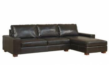 Benson Brown Leather Corner Sofa - Dakota DigitalLtd