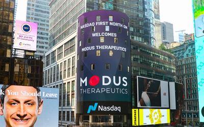 Idag inleds handeln i Modus Therapeutics aktier och teckningsoptioner på Nasdaq First North Growth Market