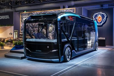 8734970f Scania's new battery electric self-driving urban concept vehicle is  designed with the flexibility to shift from ferrying commuters to and from  work in ...