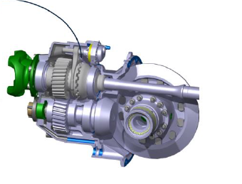 A dog clutch connection is part of the option that makes Scanias tandem axle RB662 both liftable and disengageable thus offering substantial fuel savings reduced tyre wear and much tighter turning radiuses