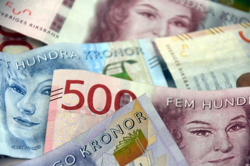 Svenska sedlar i olika valrer