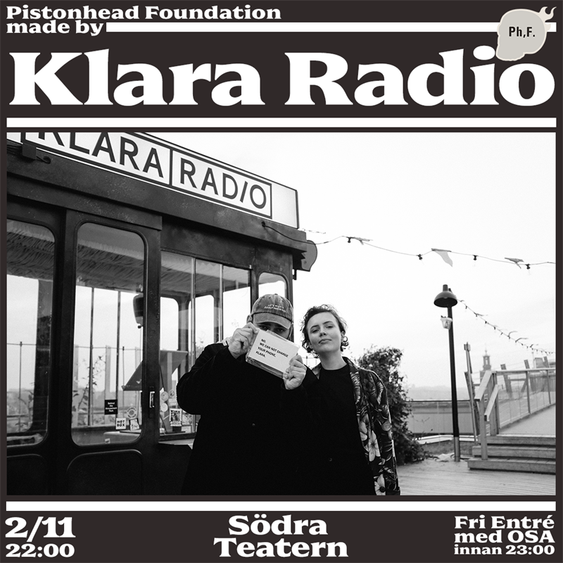 Made By Klara Radio p Sdra Teatern den 2 november
