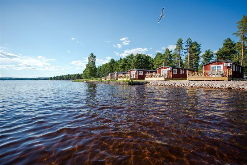Orsa camping frn vattensidan