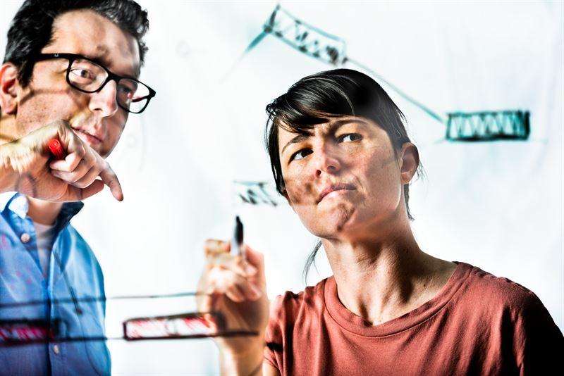 Simone Fabiano och Jennifer Gerasimov har tagit fram en lrande transistor som efterliknar hur synapser skickar signaler mellan nervceller
