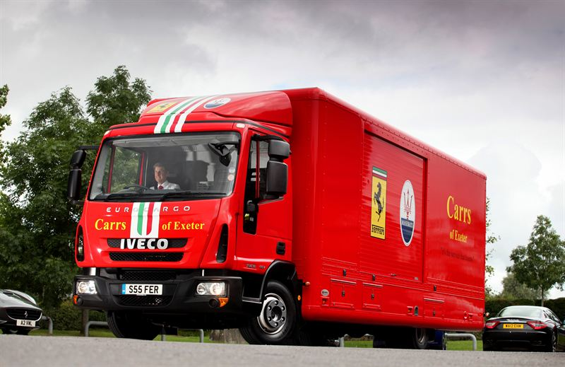 Striking Eurocargo Covered Transporter For Carrs Of Exeter