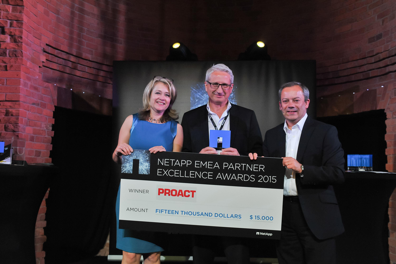 Maria Olson, Vice President Global Alliances, NetApp, Martin Ödman, CEO, Proact IT Group AB and Ashley Robinson, Senior Director EMEA Marketing, NetApp