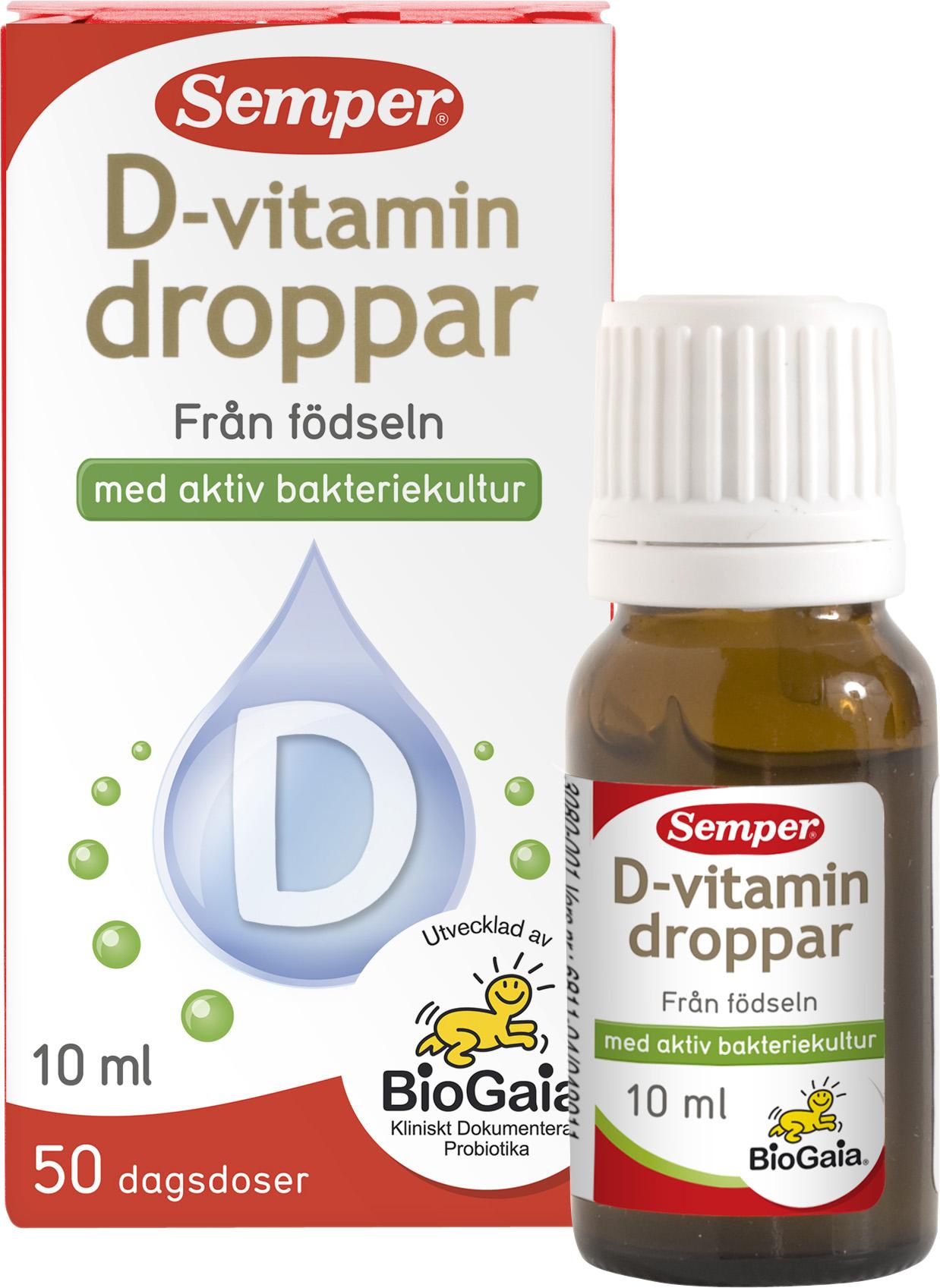 semper magdroppar med d vitamin