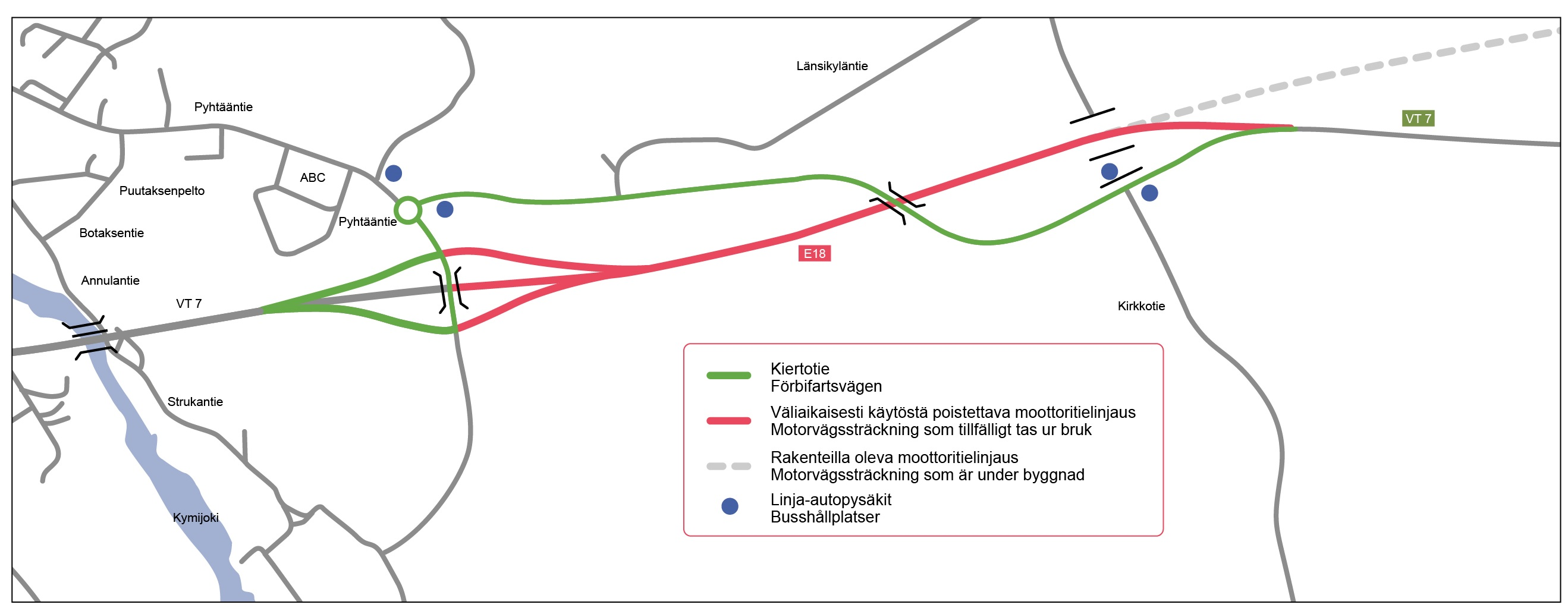 Pyhtaa Kirkkotie Kartta Liikennevirasto
