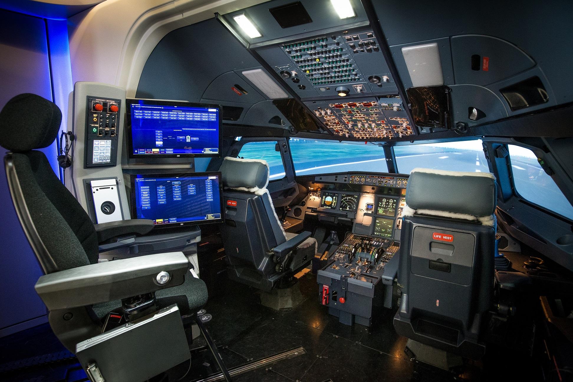 Cockpit View Of Ansett Aviation Training S A320 Ffs X
