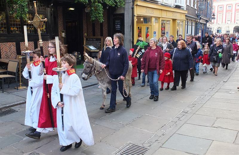 Palm Sunday at York Minster