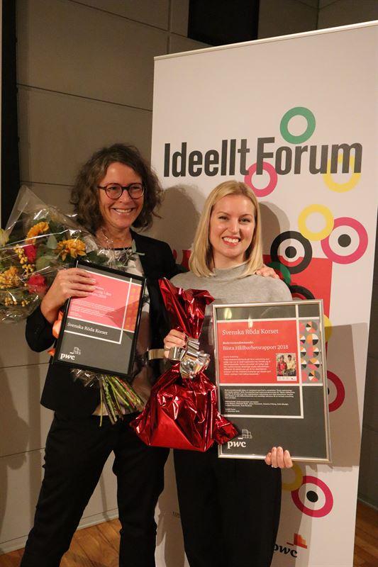 Anna Lithander, huvudredaktör och Erica Lindblom, projektcontroller,  Röda Korset