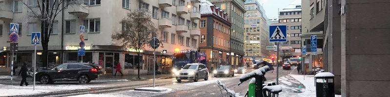 Halka sn och is  trafik