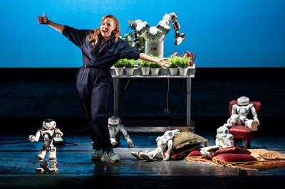 ABB-robotar i unik operaföreställning